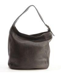 Gucci Grey Leather Large Shoulder Bag - Lyst