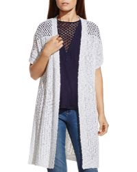 Two By Vince Camuto - Open-knit Cardigan - Lyst