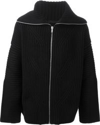 Alexander McQueen Chunky Knit Cardigan - Lyst