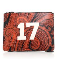 Givenchy Double-Zip Paisley Leather Pouch red - Lyst