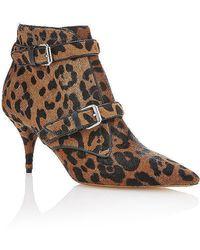 Tabitha Simmons Fitz Bootie In Leopard Hair Calf animal - Lyst