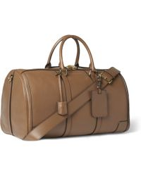 Burberry Grained-Leather Holdall - Lyst