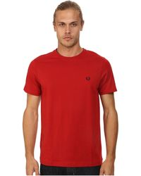 Fred Perry Crew Neck T-Shirt - Lyst