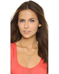 A.V. Max - Arrow Layered Necklace - Labradorite/gold - Lyst