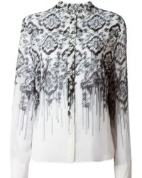 McQ by Alexander McQueen Washed Out Baroque Print Blouse - Lyst