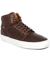 Vans | Alomar Brown Leather Sneakers | Lyst