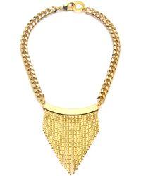 Fallon Single Fringe Necklace gold - Lyst