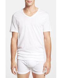 Calvin Klein Slim Fit V-Neck T-Shirt, (3-Pack) - Lyst