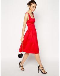 Asos Debutante Midi Dress - Lyst