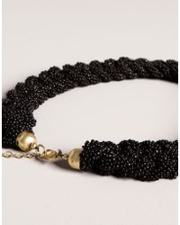 Pull&Bear Chain Of Beads Necklace - Lyst