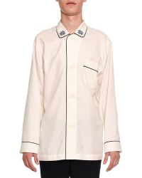 Alexander McQueen - Long-sleeve Pajama Shirt With Trim - Lyst