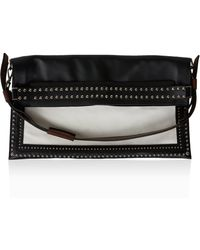 Givenchy Canvas & Studded Waxy Leather Messenger Bag - Lyst