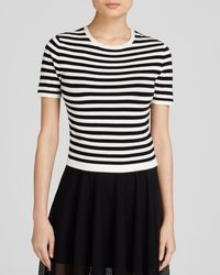 DKNY Striped Pullover black - Lyst