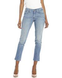 Levi's Petite Light Wash Mid-Rise Skinny Jeans - Lyst