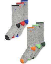 Ralph Lauren Polo Mens Athletic Celebrity Crew Socks 6-pack - Lyst