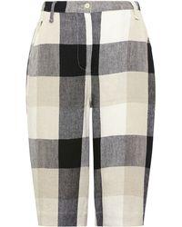 Whistles | Klara Linen Checked Shorts | Lyst