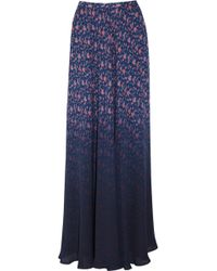 Band of Outsiders - Dégradé Floral-Print Silk Maxi Skirt - Lyst