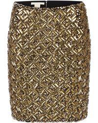 Antonio Berardi Embroidered Metallic Mini Skirt - Lyst