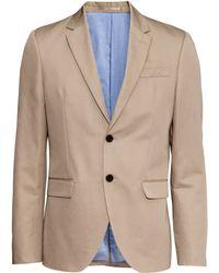 H&M Jacket In A Linen Blend beige - Lyst