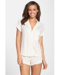 Eberjey 'Open Hearted' Jersey Shorts Pajamas - Lyst