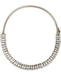 Anndra Neen - Silvertone Caged Tube Choker - Lyst