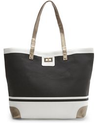 Thursday Friday | Black & White Gold Toe Everyday Tote | Lyst