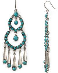 Lauren by Ralph Lauren - Blue Sky Chandelier Wire Earrings - Lyst