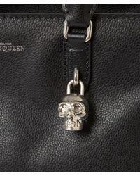 Alexander McQueen - Small Black Padlock Leather Bag - Lyst