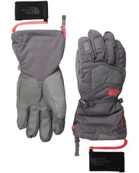 The North Face Gray  Powderflo Gloves - Lyst