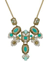 Kate Spade New York Gold-tone Multi-stone Statement Frontal Necklace - Lyst