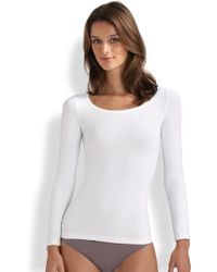 Hanro Touch Feeling Long-Sleeve Top - Lyst