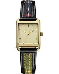 Barbour - Women's Downham Leather Strap Watch - Lyst