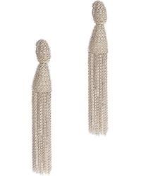 Oscar de la Renta Long Chain Tassel Earring - Lyst