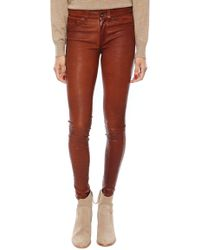 Rag & Bone The Leather Skinny - Lyst