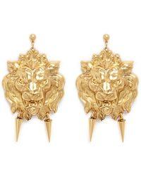 Ela Stone - 'nala' Lion Head Spike Drop Earrings - Lyst