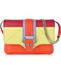 Paula Cademartori Petite Sylvie Colorblock Orange Leather Clutch - Lyst