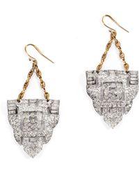 Lulu Frost Art Deco Earring #24 silver - Lyst