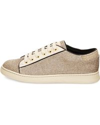 Brunello Cucinelli - Lame Lace-Up Trainers - Lyst