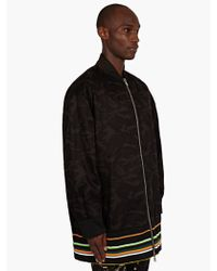 Raf Simons Sterling Ruby Mens Camouflage Long Bomber Jacket - Lyst