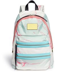 Marc By Marc Jacobs 'Domo Arigato Packrat' Marble Print Backpack - Lyst