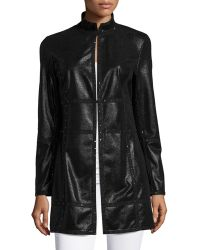Grayse - Studded Faux-leather Coat - Lyst