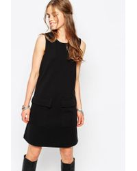 First & I - 60's Pocket Detail Shift Dress - Lyst