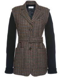 Sonia Rykiel Checked Tweed Jacket - Lyst
