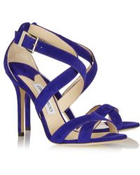 Jimmy Choo Lottie Suede Sandals - Lyst