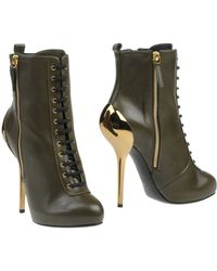 Giuseppe Zanotti Green Ankle Boots - Lyst