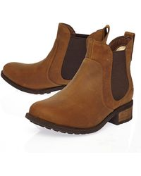 Ugg Brown Leather Bonham Ankle Boots - Lyst