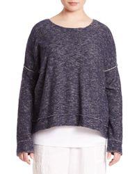 Eileen Fisher | Linen & Cotton Plaited Sweater | Lyst