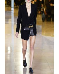 Anthony Vaccarello | Black Wool Shorts Jumpsuit | Lyst