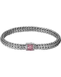 John Hardy Classic Chain 65mm Small Braided Silver Bracelet - Lyst