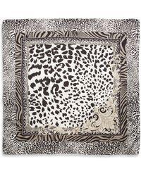 Versace Silk Animalprints Scarf - Lyst